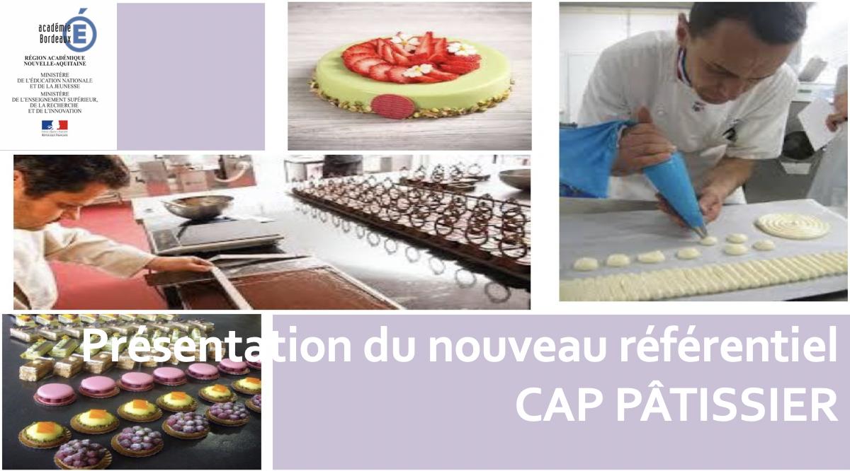 Nouveau Référentiel CAP Pâtisserie
