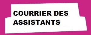 Courrier des assistants