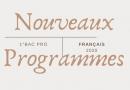 Nouveaux programmes 1° bac pro francais