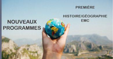 Nouveaux programmes bac pro première HGEMC