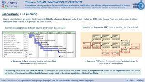 DIC-1-3-FE1c-Organisation d'un groupe de projet- Planning