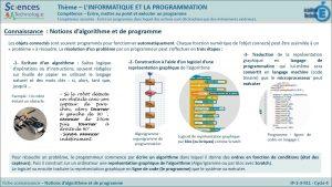 IP-2-3-FE1-Notion d'algorithme et de programme